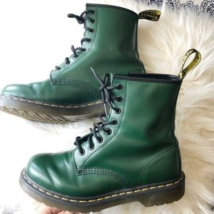 Dr. Martens 1460W 8-Eyelet Green Boots